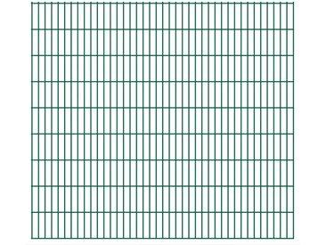 Panneaux de clôture de jardin 2D 2,008x1,83 m 42 m total Vert - vidaXL