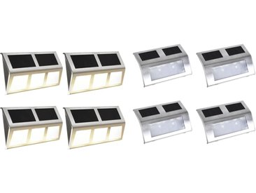 Ensemble de lampe solaire à LED 8 pcs - vidaXL