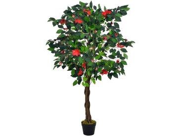 Plante artificielle avec pot Camélia Vert 125 cm - vidaXL