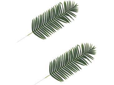 2 pcs Feuilles artificielles de palmier Vert 140 cm - vidaXL