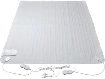 Couverture électrique lavable 3 niveaux de chaleur 150x140 cm - vidaXL