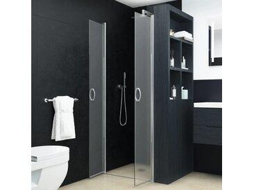 Portes de cabine de douche ESG dépoli 85x185 cm - vidaXL