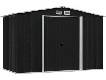 Abri de stockage pour jardin Anthracite Acier 257x205x178 cm - vidaXL