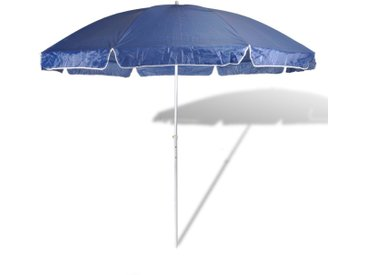 300cm Parasol de plage bleu - vidaXL