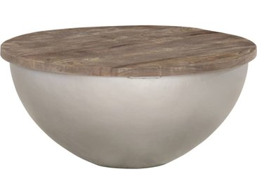Table basse en forme de bol Ø60 cm Bois de manguier massif - vidaXL
