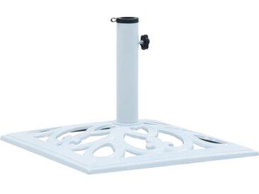 Socle de parasol Blanc 12 kg 49 cm Fonte - vidaXL