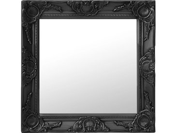 Miroir mural style baroque 50x50 cm Noir - vidaXL