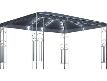 Tonnelle avec guirlande lumineuse 400x300 cm Anthracite - vidaXL