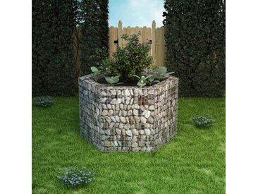Jardinière à gabion hexagonale 160 x 140 x 100 cm - vidaXL