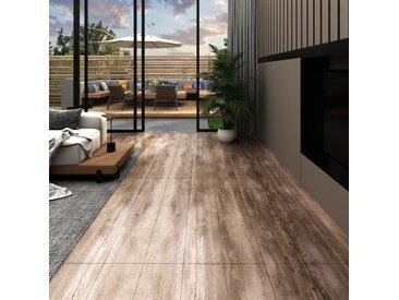 Planches de plancher PVC 5,02m² 2mm Autoadhésif Délavage de bois - vidaXL