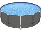 Piscine avec cadre en acier 457x122 cm Anthracite - vidaXL
