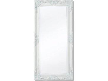 Miroir mural Style baroque 100 x 50 cm Blanc - vidaXL