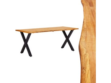 Table de salle à manger Naturel 180x90x75 cm Bois chêne massif - vidaXL