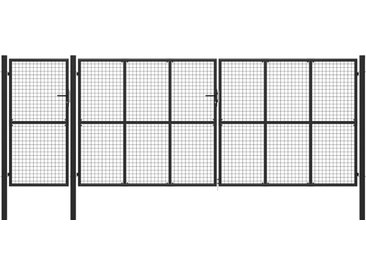 Portail de jardin Acier 500 x 200 cm Anthracite - vidaXL