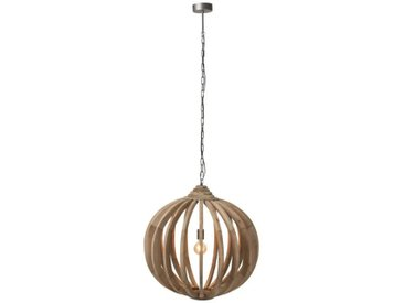 Suspension boule Bois naturel - SICISTE - L 70 x l 70 x H 178 - vidaXL
