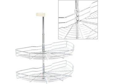 Panier à 2 niveaux métallique de cuisine 180 degrés 75x38x80 cm - vidaXL