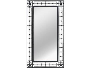 Miroir mural Rectangulaire 60 x 110 cm Noir - vidaXL