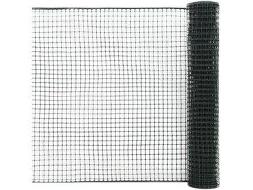 Maille de clôture de jardin PEHD 25x1,2 m Vert - vidaXL