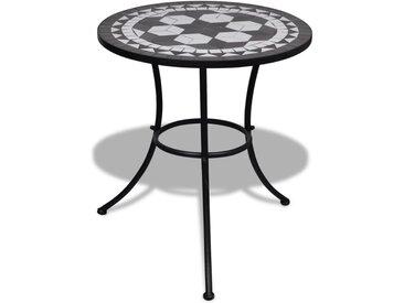 Table de bistro Noir et blanc 60 cm Mosaïque  - vidaXL