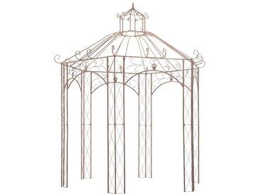 Pavillon de jardin Marron antique 3 m Fer - vidaXL