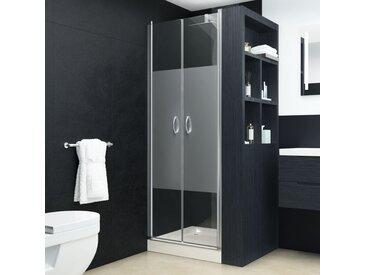 Portes de cabine de douche ESG demi-dépoli 70x185 cm - vidaXL