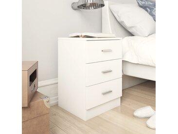 Tables de chevet 2 pcs Blanc 38 x 35 x 56 cm Aggloméré - vidaXL