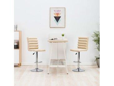 Chaise de bar Crème Similicuir - vidaXL