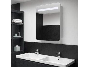 Armoire de salle de bain à miroir LED 60x11x80 cm - vidaXL