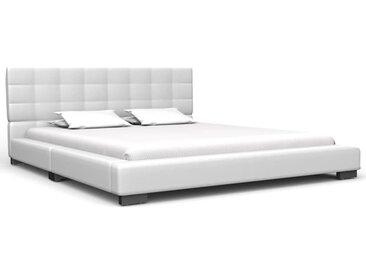 Cadre de lit Blanc Similicuir 140 x 200 cm - vidaXL