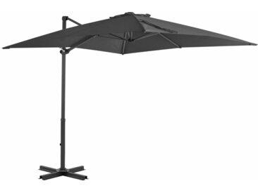 Parasol en porte-à-faux Mât en aluminium 250x250 cm Anthracite - vidaXL