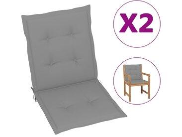 Coussins de chaise de jardin 2 pcs Gris 100 x 50 x 3 cm - vidaXL