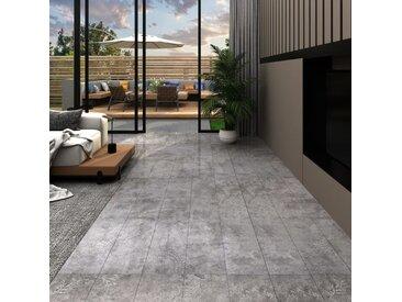 Planches de plancher PVC 5,02 m² 2 mm Autoadhésif Gris béton - vidaXL