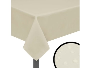 Nappes 5 pièces 250 x 130 cm Crème - vidaXL