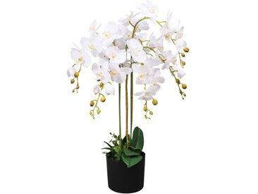 Plante artificielle avec pot Orchidée 75 cm Blanc - vidaXL