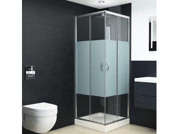 Cabine de douche Verre de sécurité 80x80x185 cm - vidaXL