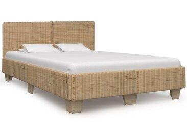 Cadre de lit Rotin véritable tissé à la main 160 x 200 cm - vidaXL