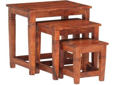 Tables gigognes 3 pcs Bois d'acacia massif - vidaXL