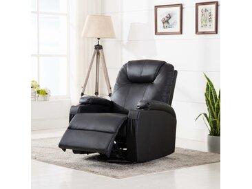 Fauteuil à bascule de massage Noir Similicuir  - vidaXL