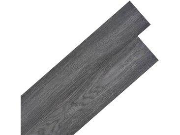Planche de plancher PVC autoadhésif 5,02 m² 2 mm Noir et blanc - vidaXL