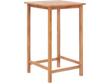 Table de bar de jardin 65 x 65 x 110 cm Bois de teck solide - vidaXL