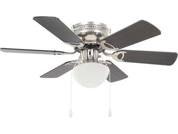 Ventilateur de plafond orné avec lumière 82 cm Marron foncé - vidaXL