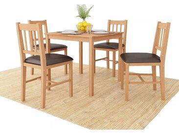 Mobilier de salle à manger 5 pcs Chêne massif - vidaXL
