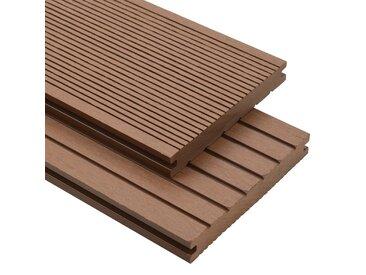 Panneaux de terrasse WPC solides 30 m² 4 m Marron Clair - vidaXL