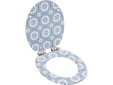 Siège WC MDF Couvercle à fermeture en douceur Porcelaine - vidaXL