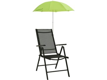 Parasols de chaise de camping 2 pcs Vert 105 cm - vidaXL