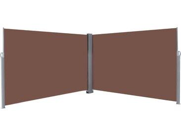 Auvent latéral rétractable 200 x 600 cm Marron - vidaXL