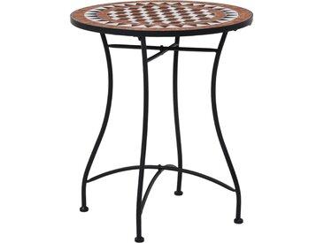 Table de bistro mosaïque Marron 60 cm  Céramique - vidaXL