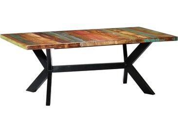Table à dîner 200x100x75 cm Bois de récupération solide - vidaXL