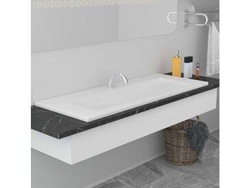 Lavabo encastré 101 x 39,5 x 18,5 cm Céramique Blanc - vidaXL