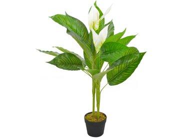 Plante artificielle Anthurium avec pot Blanc 90 cm - vidaXL